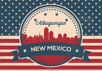 Retro Alberquerque New Mexico Skyline - Free vector #365239