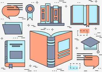 Free Flat Line Education Vector Wallpaper - бесплатный vector #365249