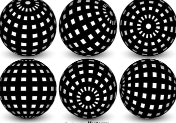 Vector Spheres With Globe Grid - vector gratuit #365289
