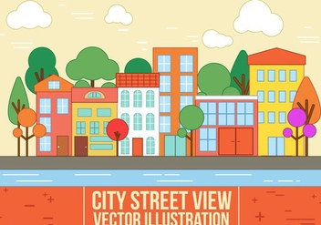 Free Vector City Street View - Free vector #365299