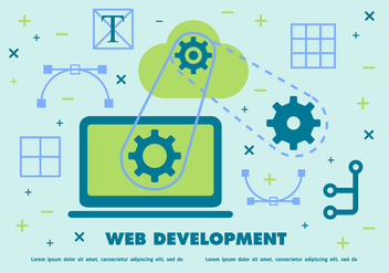 Free Web Development Vector Background - vector gratuit #365309