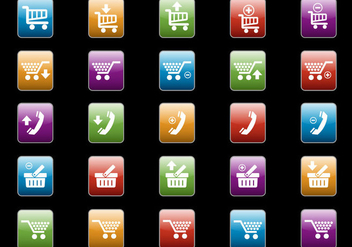Free Web Buttons Set 09 Vector - Free vector #365629