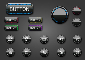 Free Web Buttons Set 08 Vector - Kostenloses vector #365639
