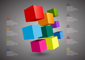 Free Cube Infographics Vector - Free vector #365659