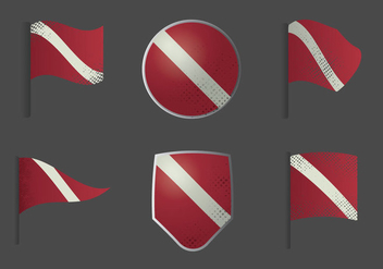 Free Dive Flag Vector Illustration - бесплатный vector #365939