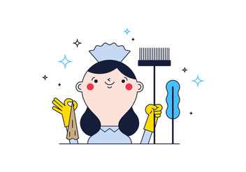 Free Cleaning Lady Vector - vector gratuit #365959