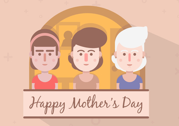 FREE MOTHERS DAY VECTOR - бесплатный vector #366049