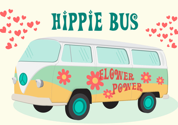 Hippie Bus Vector - бесплатный vector #366069