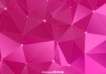 Pink Polygonal Vector Background - Kostenloses vector #366139