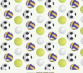 Sport ball pattern - vector gratuit #366239