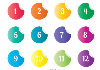 Numbered Bullet Points Sticker Vector - Free vector #366279