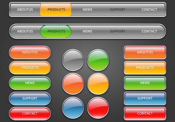 Free Web Buttons Set 03 Vector - Free vector #366379