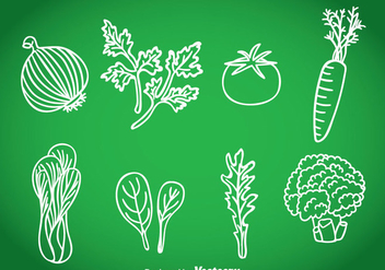 Vegetables Hand Drawn Vector - vector gratuit #366389