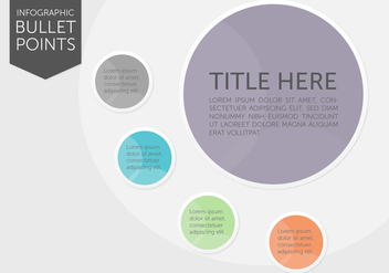 Infographic Bullet Points - Free vector #366409