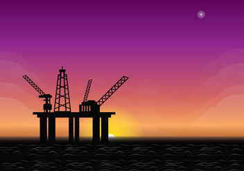 Offshore Sunrise Illustration - Kostenloses vector #366559