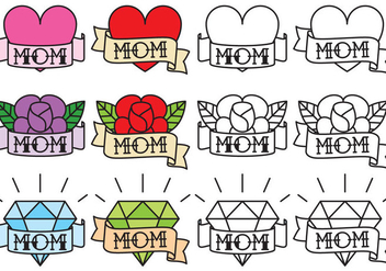 Mom Tattoos - vector gratuit #366719
