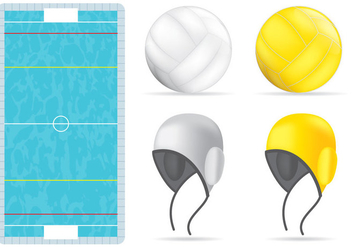 Waterpolo Pool And Items - vector gratuit #366809