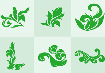 Green Acanthus Vector - бесплатный vector #366819