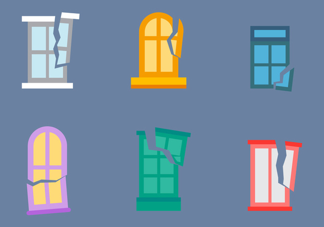 Free Broken Windows Vector 02 - Kostenloses vector #366829