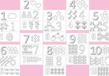 Coloring Numbers Pages - Free vector #366929