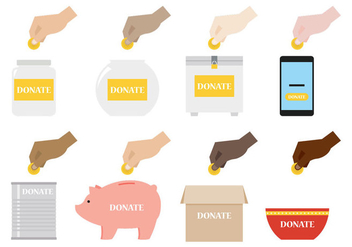Donate Illustration - vector gratuit #367049
