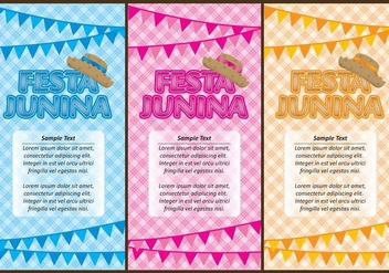 Festa Junina Flyers - vector gratuit #367089