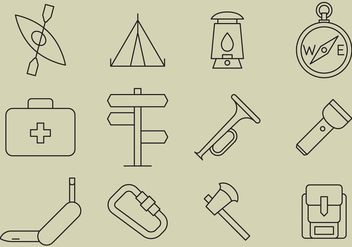 Boyscout Line Icons - бесплатный vector #367129