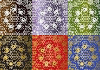 Set Lace Texture Vectors - бесплатный vector #367149