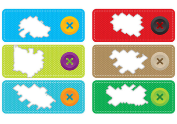 Torn Fabric Label Vectors - Free vector #367189