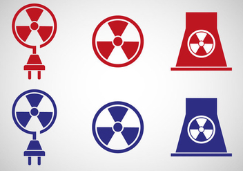 Free Nuclear Energy Icon Vector - Kostenloses vector #367199