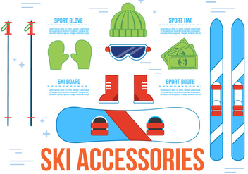 Free Ski Accessories Vector Icons - vector #367239 gratis