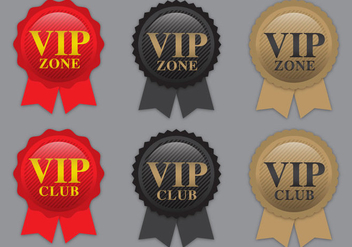 VIP Ribbon Vectors - бесплатный vector #367309