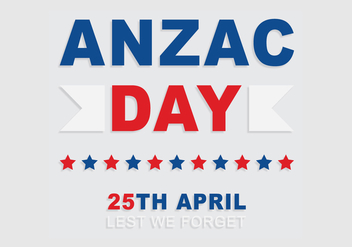 Anzac Typography Background Vector - vector gratuit #367419