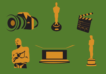 Movie and Oscar Awards Vector - бесплатный vector #367429
