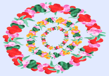 Free Hawaiian Leis Watercolor Vector - vector gratuit #367439