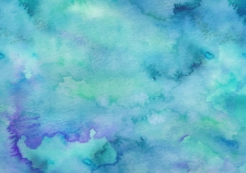 Teal Free Vector Watercolor Background - vector gratuit #367519