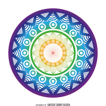Bright mandala drawing - бесплатный vector #367589