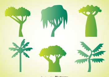 Tree Collection Vector - бесплатный vector #367639