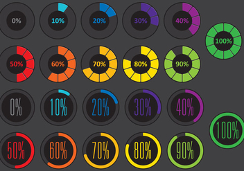 Colorful Circle Pre Loader Vectors - vector gratuit #367649