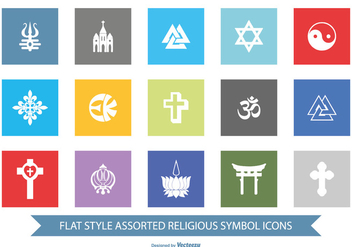 Religious Symbol Icon Set - vector gratuit #367689