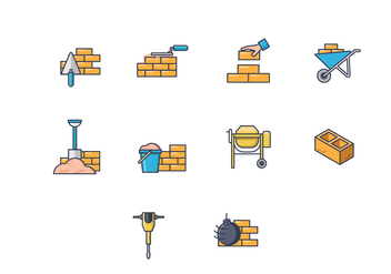 Free Bricklayer Vector - Free vector #367699