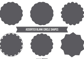 Blank Circle Vector Shapes - vector gratuit #367719