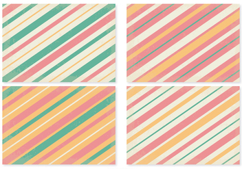 Retro Striped Pattern Set - vector gratuit #367799