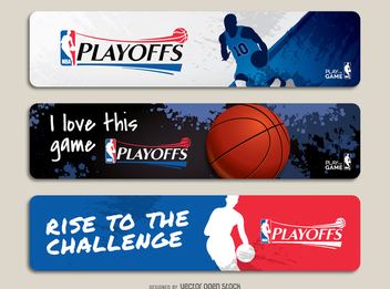 NBA playoffs banner set - vector gratuit #367899