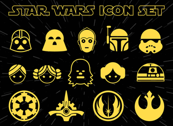 Star Wars icon set - Free vector #367929