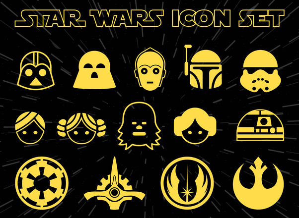 star wars icon set free vector download 367929 cannypic star wars logo vector art star wars logo vector free