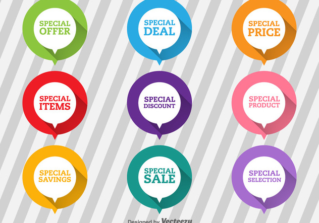 Special Offer Flat Labels - Free vector #368009