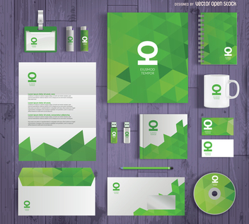 Business stationary mockup - vector gratuit #368039