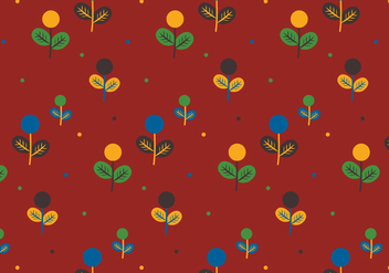 Colorful Plants Pattern - Free vector #368099