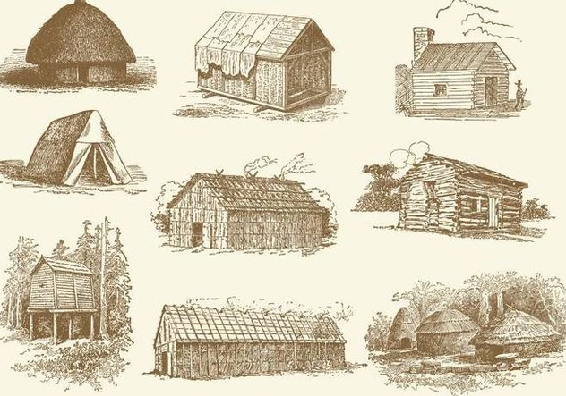 Huts And Shacks - Free vector #368129